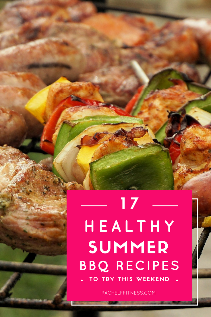 grill with kebabs and 17 healthy BBQ recipe ideas