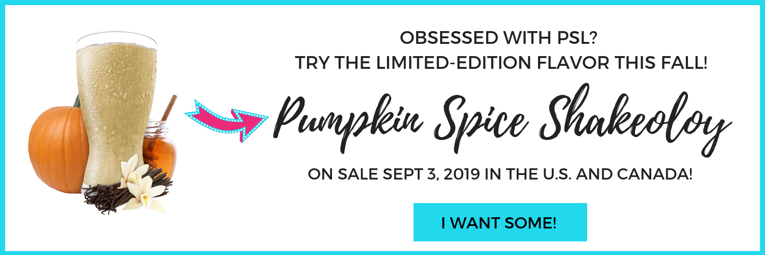 Limited Edition Shakeology Flavor - Pumpkin Spice Shakeology